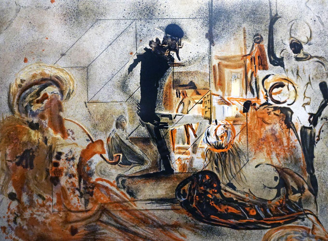Studio Of Dali Early By Salvador Dali