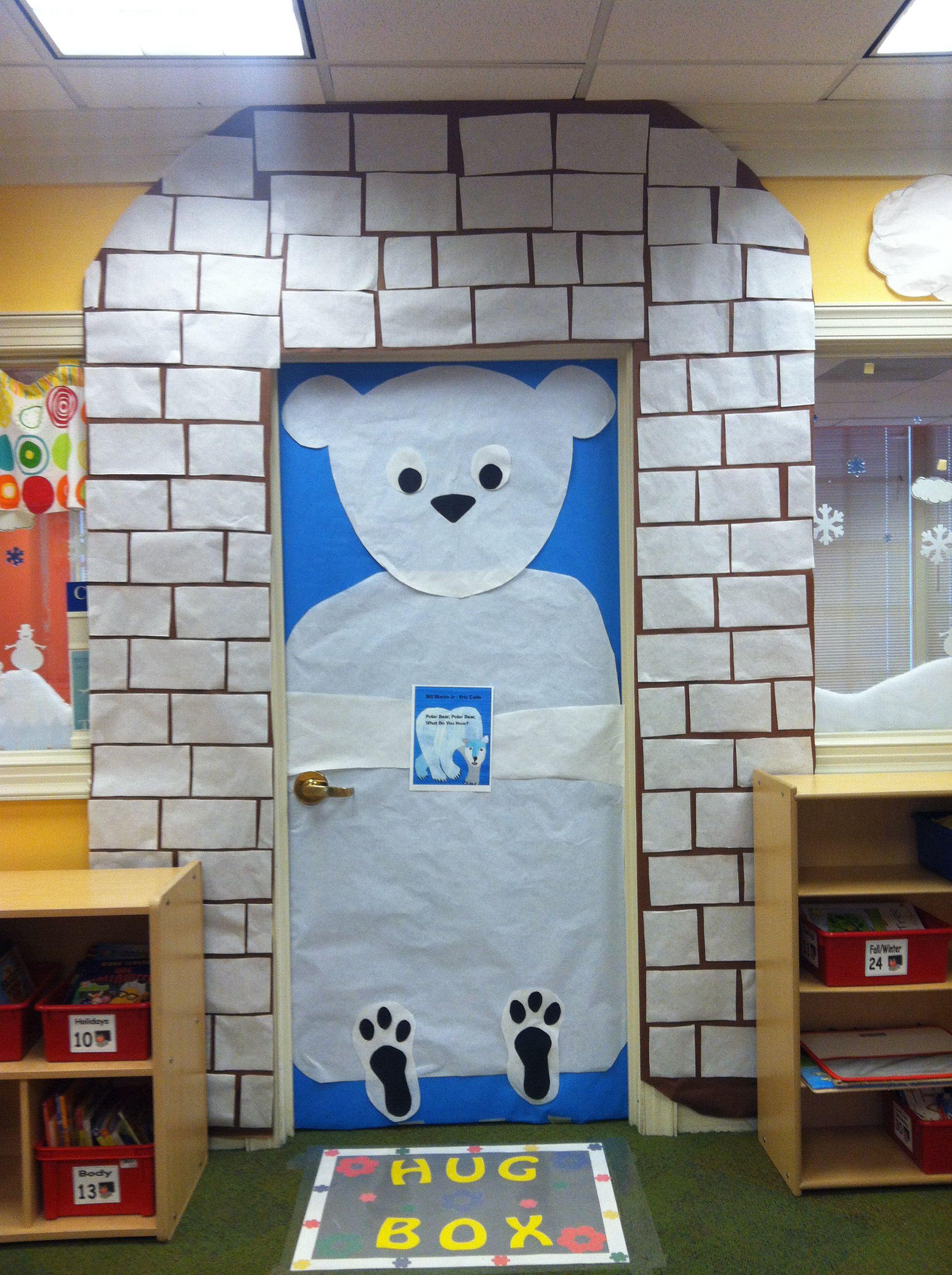 Winter Polar Bear Classroom Door