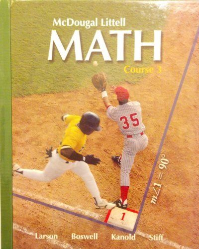 7th Grade Math Textbook McDougal Littell Course 3 Student Edition 2007