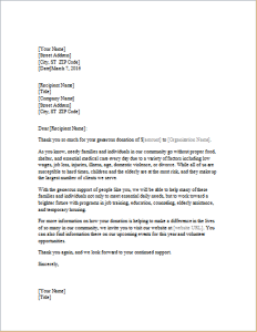 Fundraiser Thank You Letter Template Download At HttpWwwDoxhub