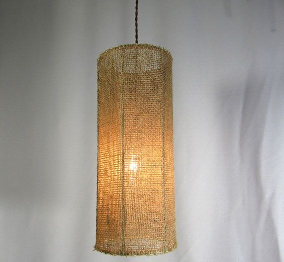 Pendant Shade Chandelier Custom Handmade Burlap Mesh Fabric One Of A Kind Made In Brooklyn Ny Orig Hanging Lamp Shade Modern Lamp Shades Antique Lamp Shades