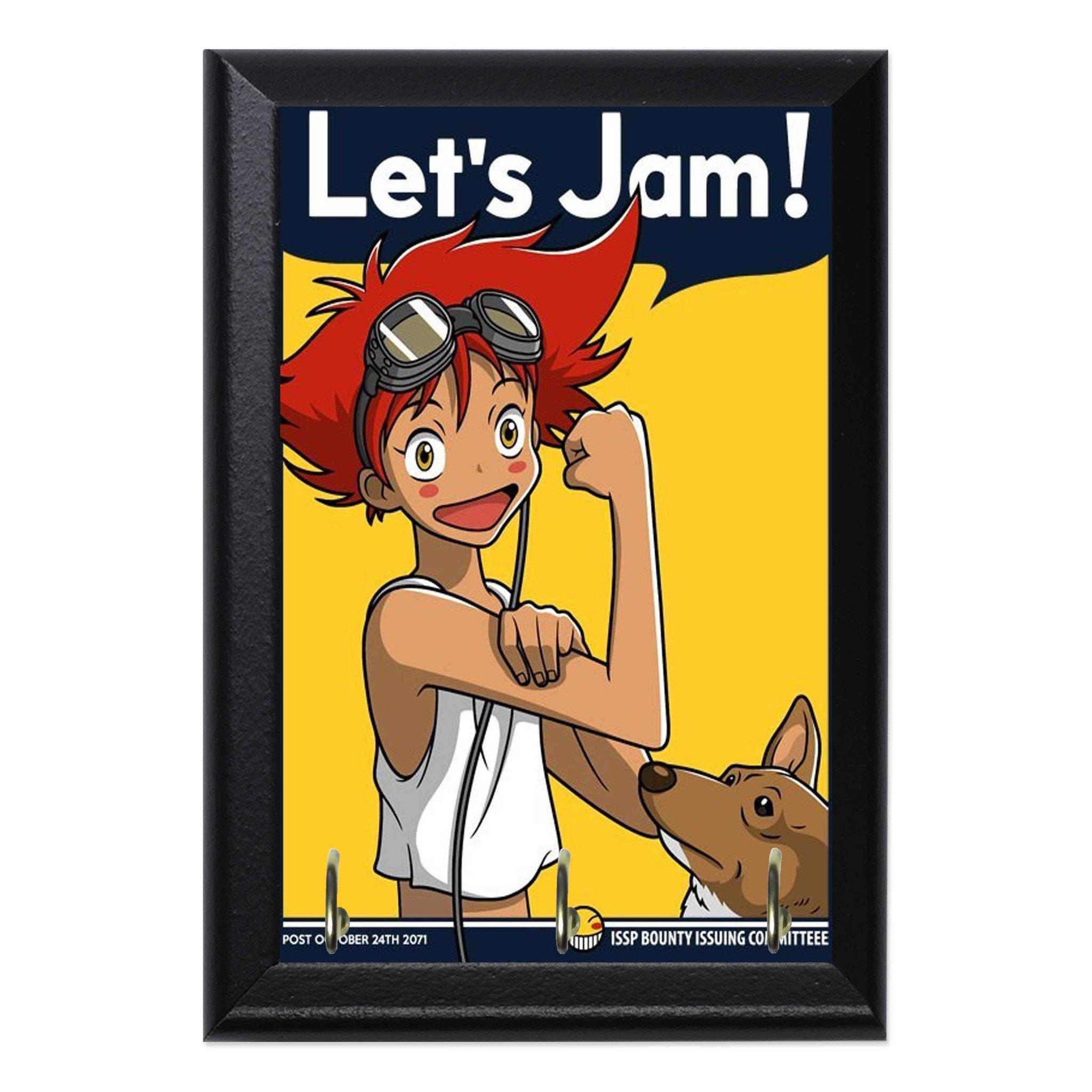 Cowboy Bebop Edward Let\'s Jam Anime Geeky Wall Plaque Key Holder ...
