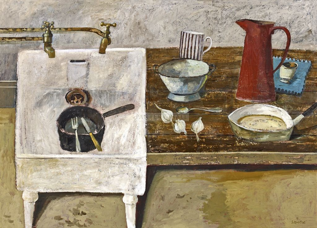 Simon Quadrat, Still Life with Kitchen Sink | Paintings and Prints ...