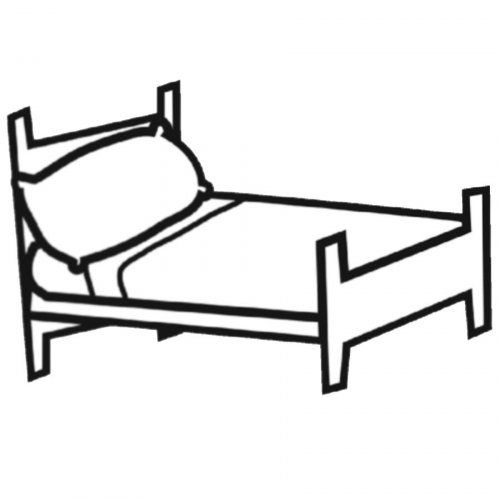 Dibujo Cama Cama Comodo Beach Coloring Pages Drawing Furniture Coloring Pages
