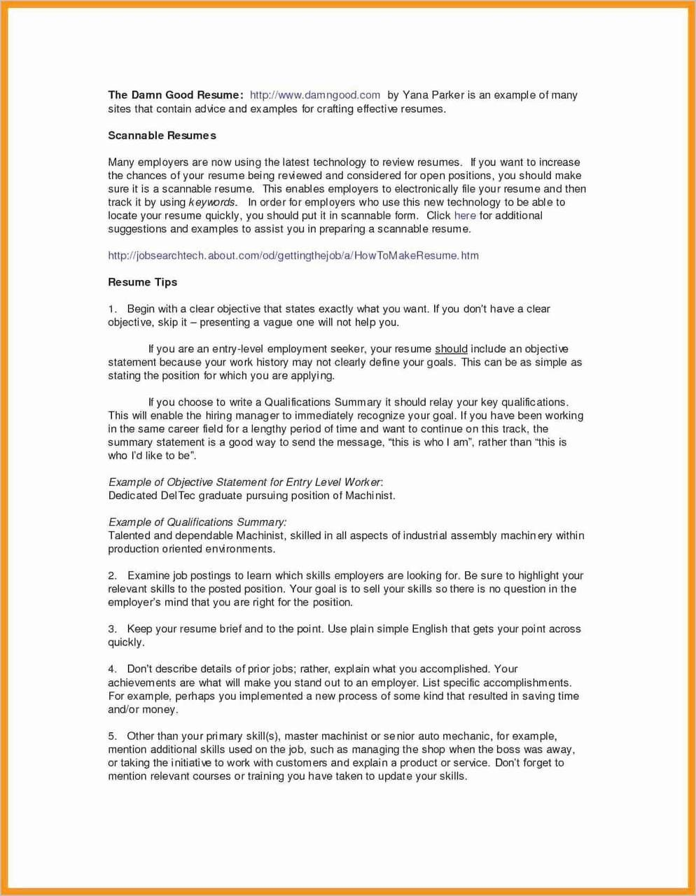 summary qualifications resume college student