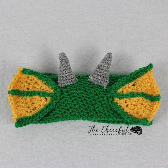 Crochet Pattern- Dragon Crochet Pattern - Ear Warmer Pattern ...