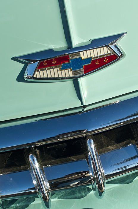 1954 Chevrolet Belair Emblem Photograph By Jill Reger 1954