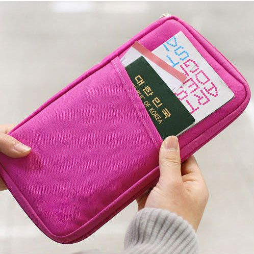 Image of [grhmf22000181]Pure Passport Tickets Function  Travelling Clutch Bag