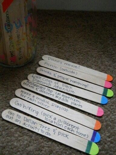 Date Jar Sticks I Love This Idea Dates In A Jar Date Night Jar Boyfriend Gifts