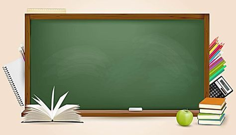Vector Textured Three Dimensional Blackboard Stationery Educational Background