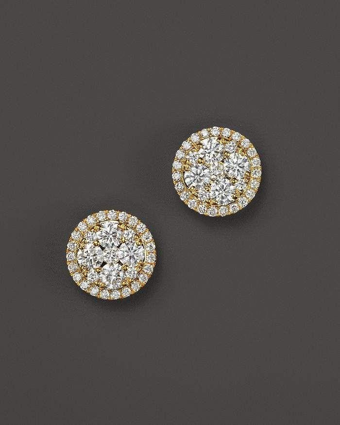 f2f6c6cf6 Bloomingdale's Diamond Cluster Stud Earrings in 14K Yellow Gold, .75 ct.  t.w. - 100% Exclusive