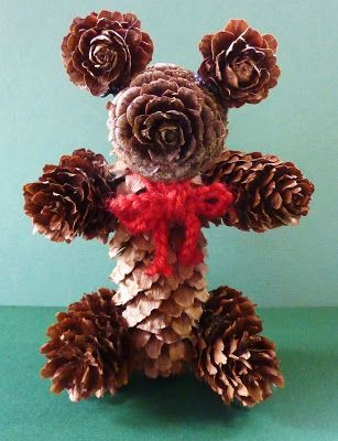 Teddy beer made from pine cones.