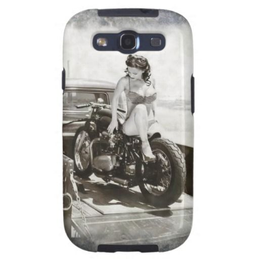 PINUP GIRL ON MOTORCYCLE. Case-Mate SAMSUNG GALAXY CASE | Zazzle.com