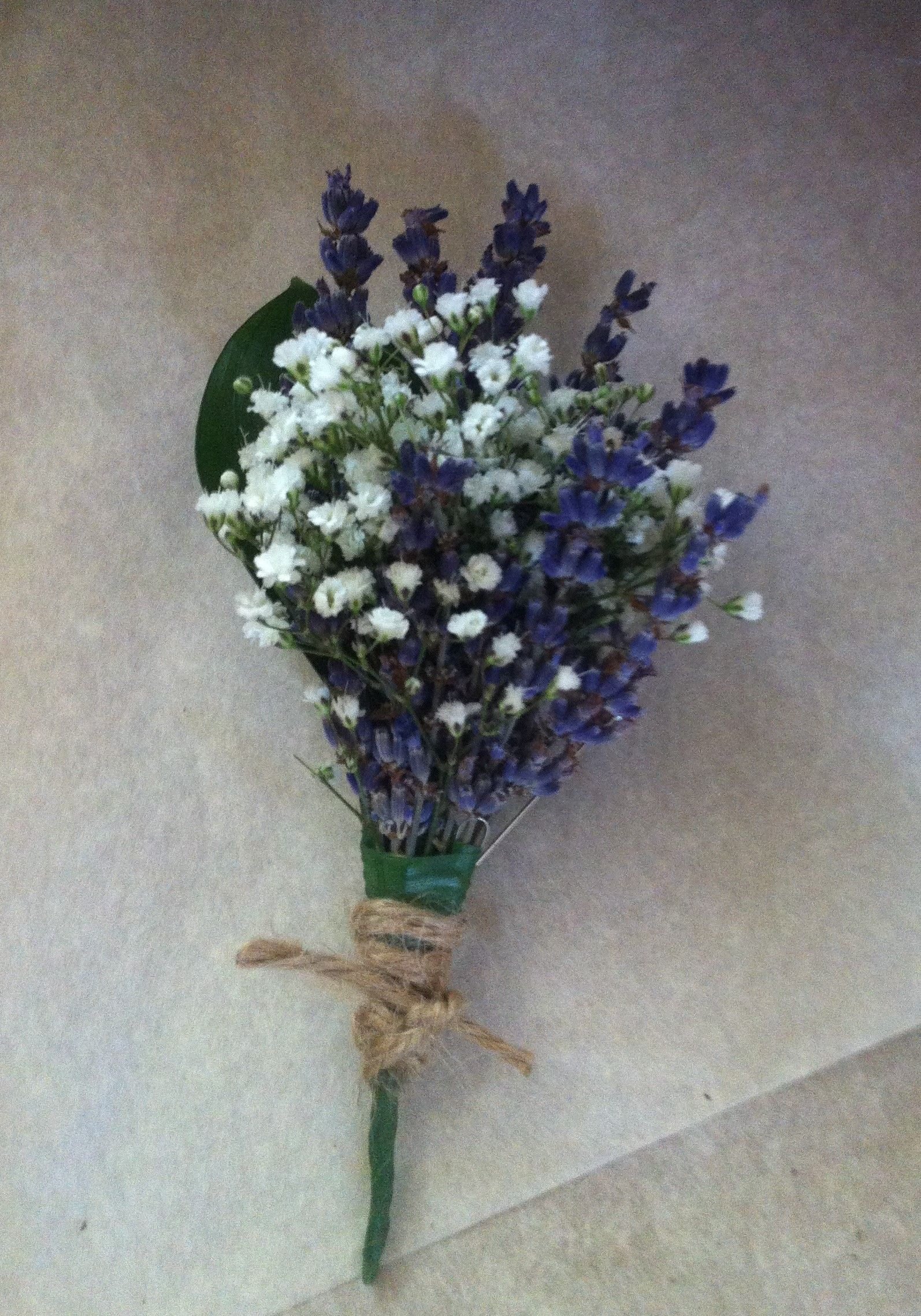 Gyp And Lavender Buttonhole Wedding Pinterest