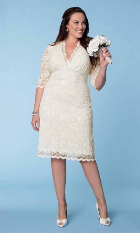 Wedding Dresses for Curvy Brides from Kiyonna.com | Scalloped lace ...