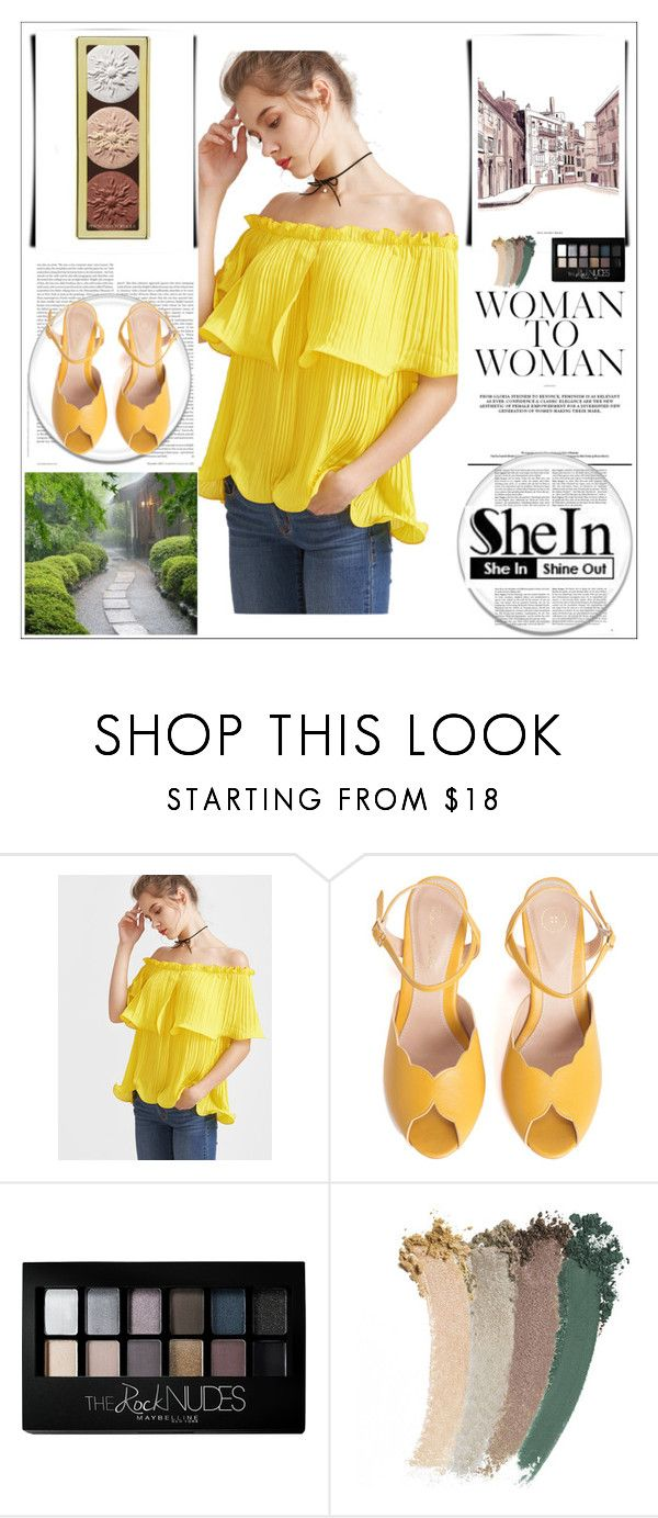 """shein"" by asiel ❤ liked on Polyvore featuring SPECIAL DAY, Maybelline and Gucci"