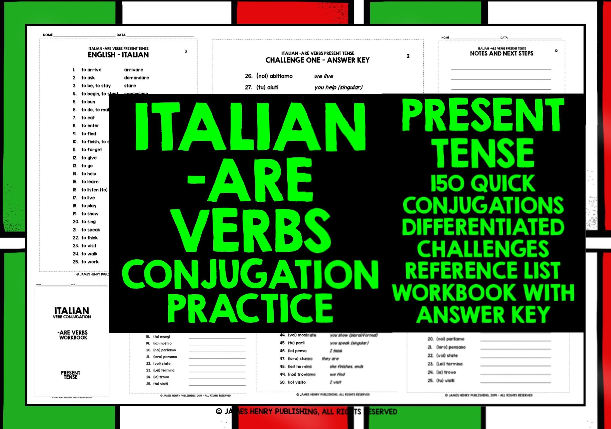 Conjugating Italian Are Verbs In