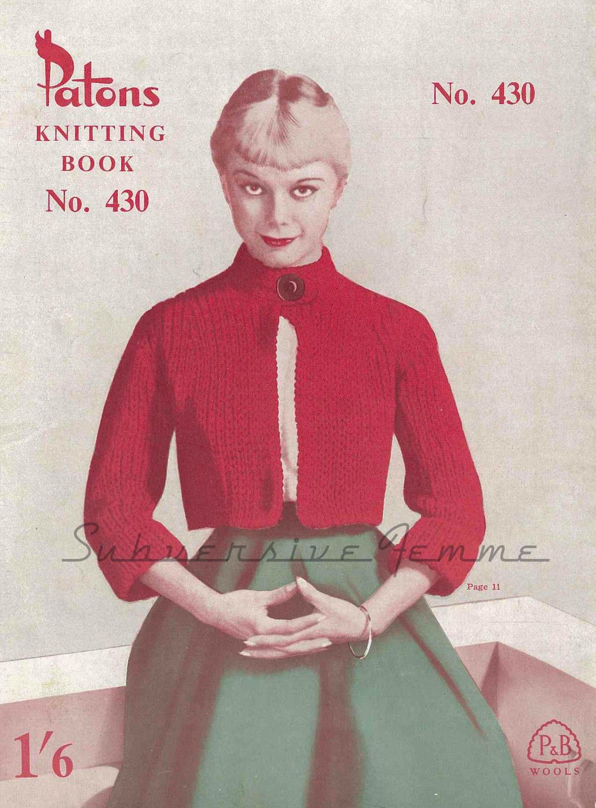Nautical shortie coat from patons no430 1950s subversive femme the vintage pattern files knitting nautical shortie coat free bankloansurffo Gallery