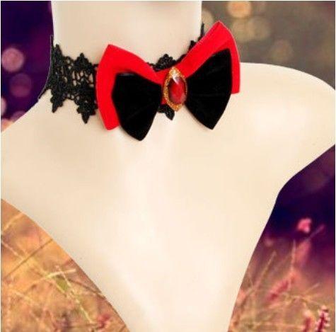 collier femme noeud papillon
