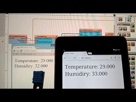 Esp8266 Dht11 Temperature And Humidity Web Server Hackster Io Temperature And Humidity Electronics Projects Arduino