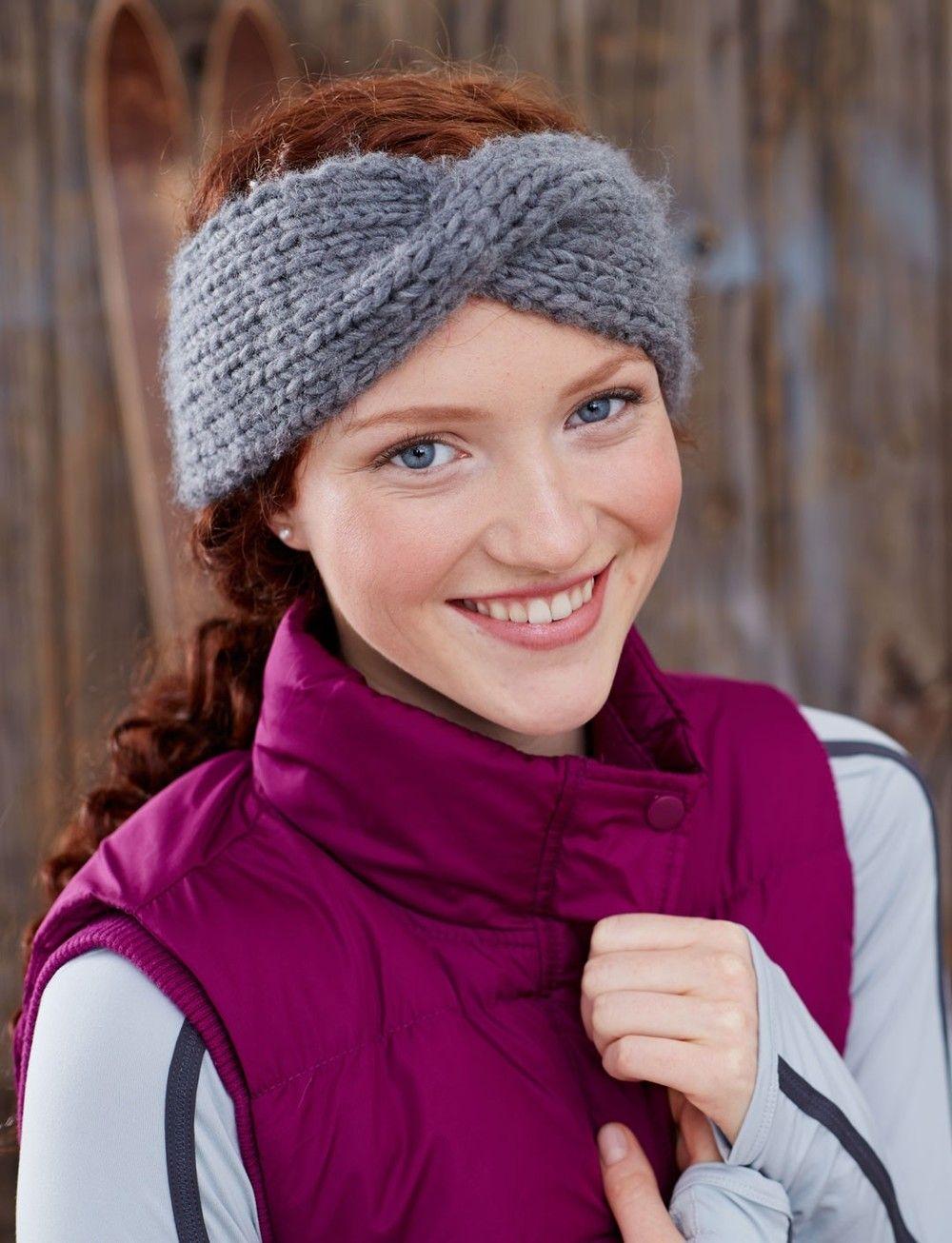 Twisted Sister Headband | Beginner knitting, Knit headband pattern ...