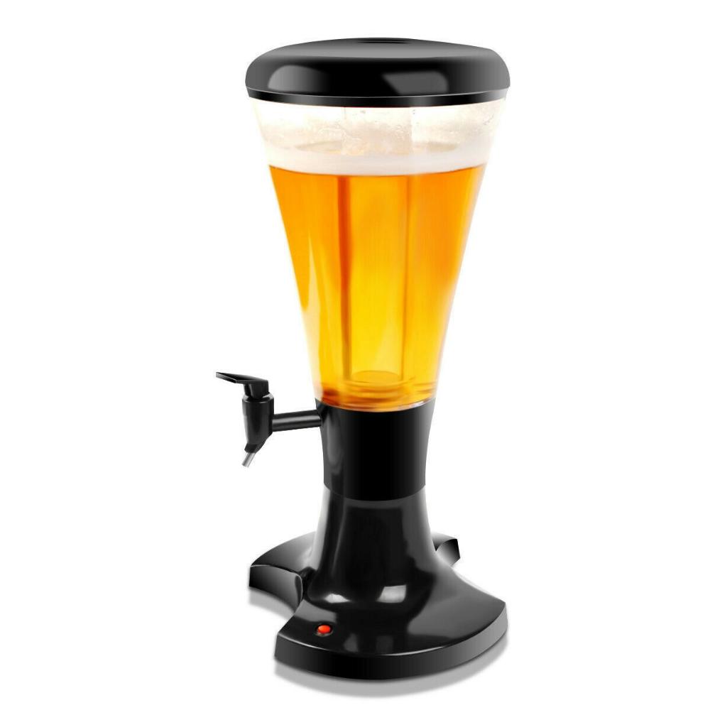 3l Draft Beer Tower Dispenser With Led Lights Ebay