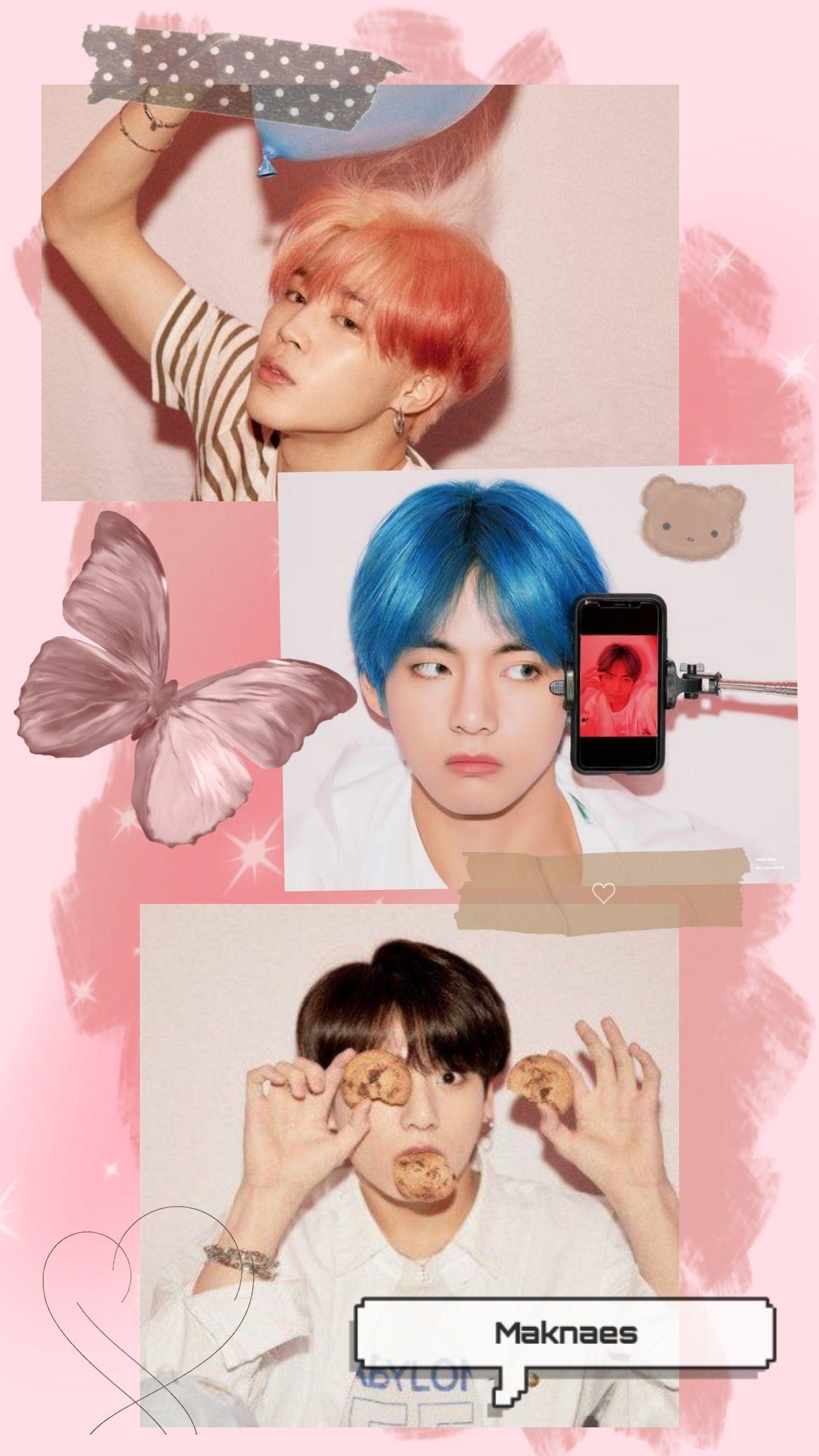 Bts Pink Maknae Line Bts Maknae Line Bts Maknae Line Wallpaper Cute Bts Wallpaper Bts wallpaper 2021 pink