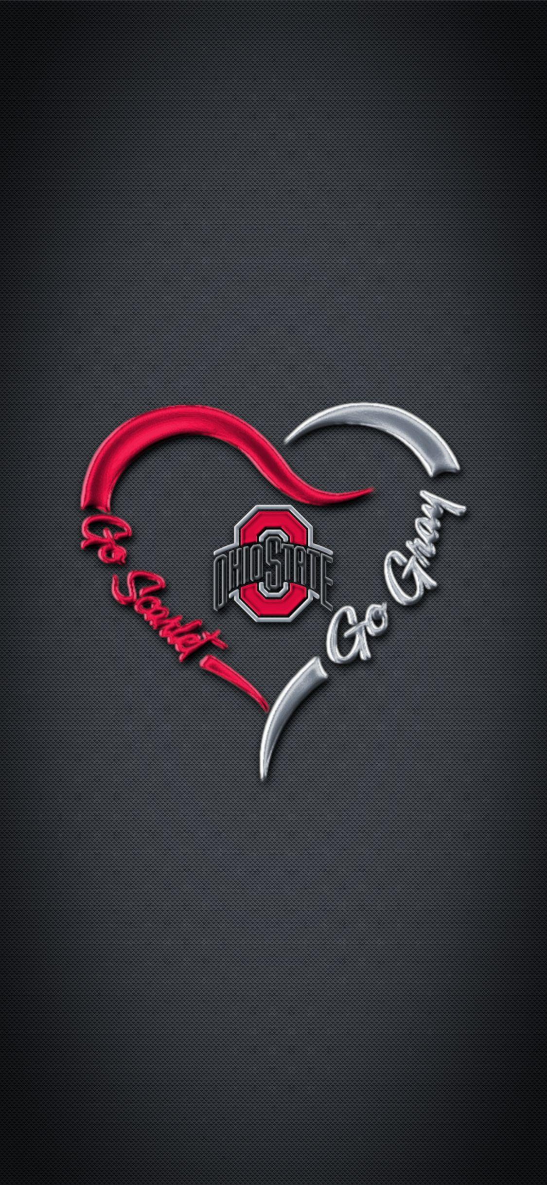 Ohio State Buckeyes Football logo phone wallpaper