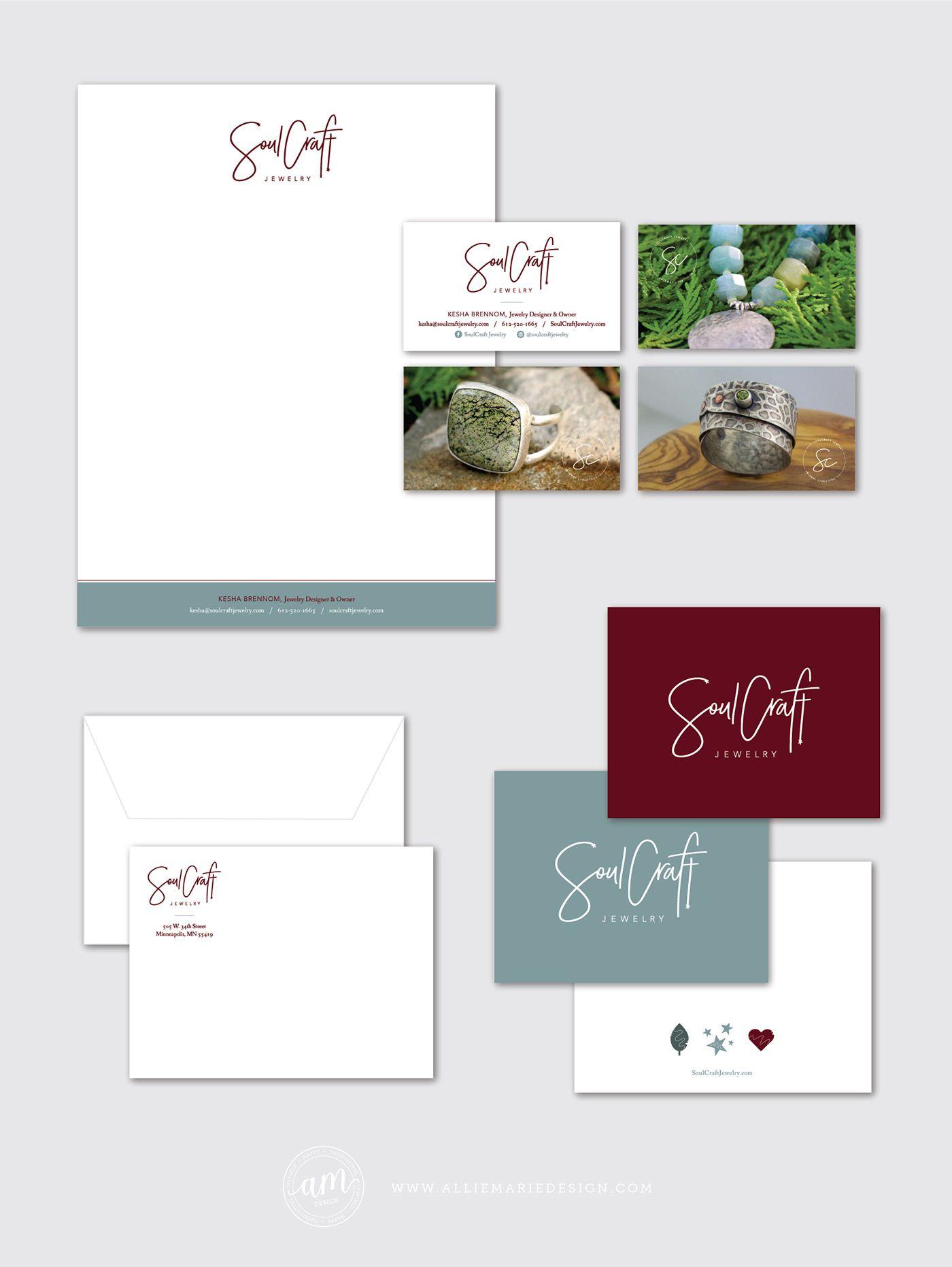 SoulCraft Jewelry | Brand Styling by AllieMarie Design | Letterhead ...