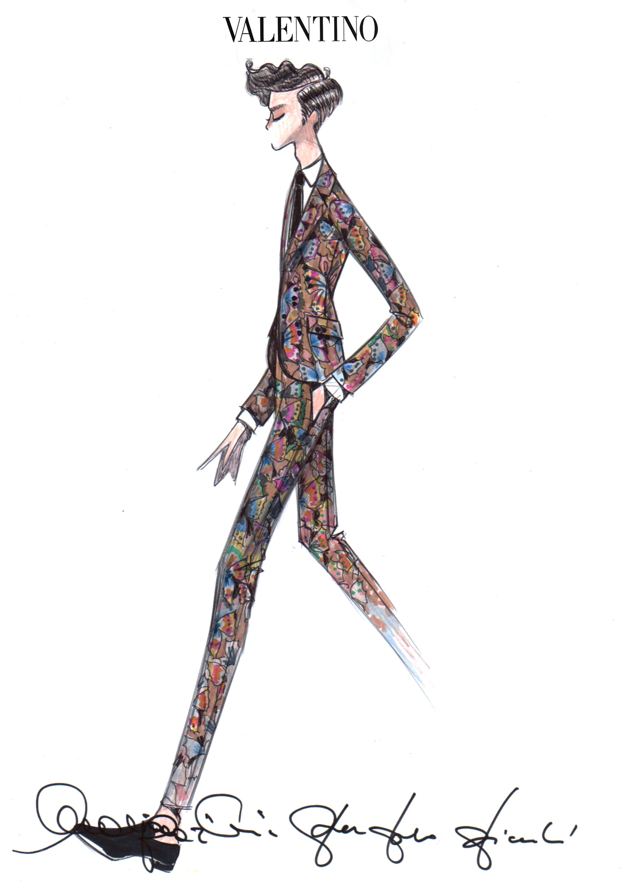 Valentino For Mika Sketch Designer Sketches Pinterest Sketches Fashion Illustrations And
