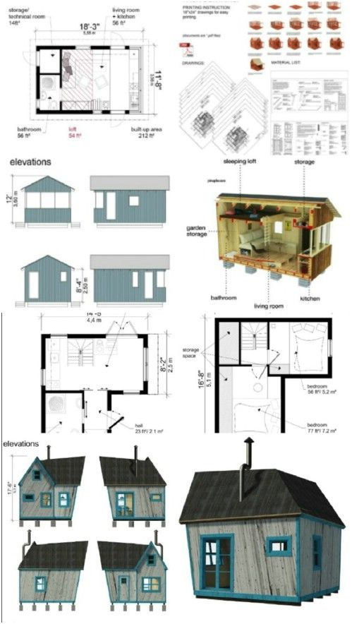 17 do it yourself tiny houses with free or low cost plans shed rh pinterest es