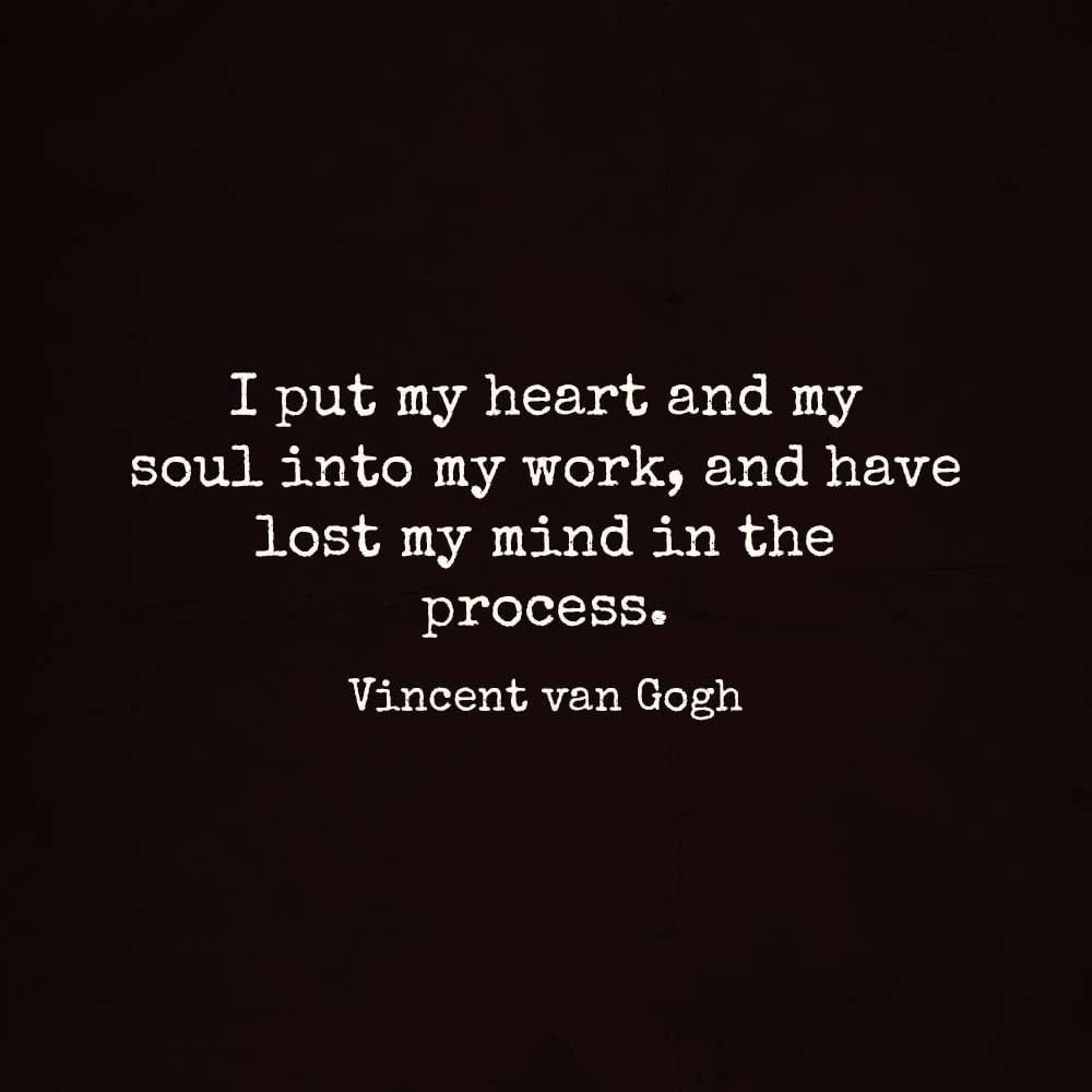 Vincent Van Gogh The Darkness in my Soul