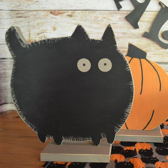 Black Cat Wood Halloween Decoration Black Cat Halloween Party - halloween decorations black cat