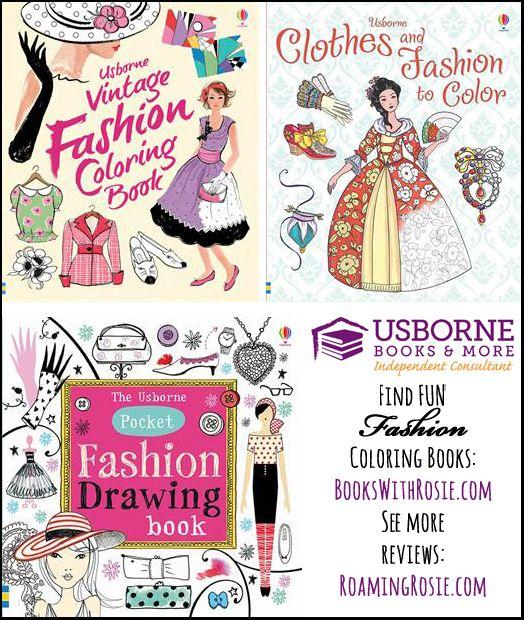Usborne Fashion Coloring Books Review Fashion Coloring Book Colorful Fashion Coloring Books
