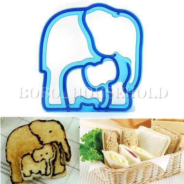 Elephant Cutter For Cake Decorating : DIY Bread Sandwich Toast Elephant Mold Cutter Cute ...