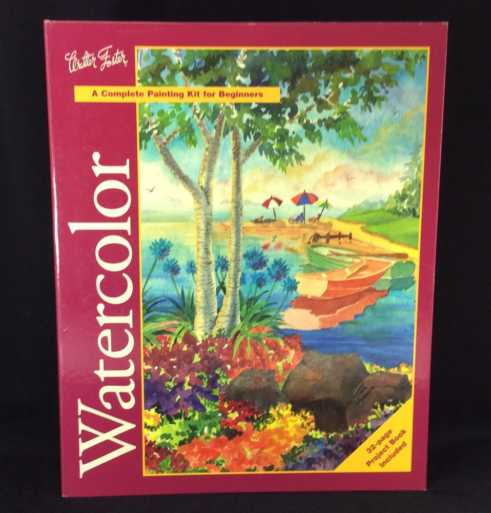 Watercolor Painting Kit for Beginners Project Book Walter
