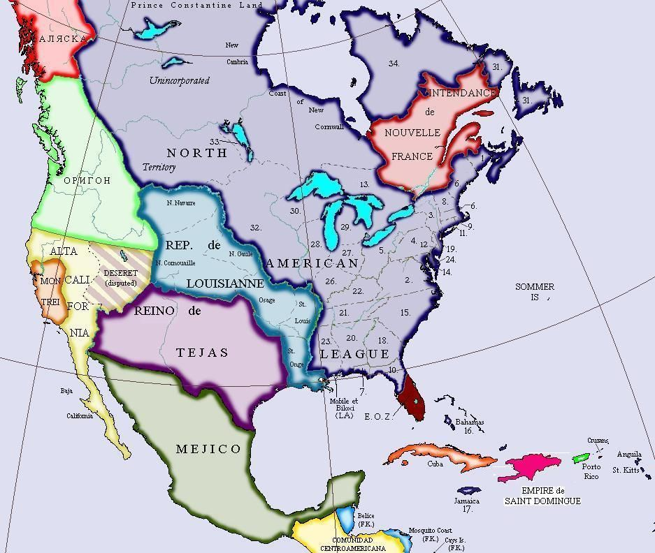 north america countries - 937×792