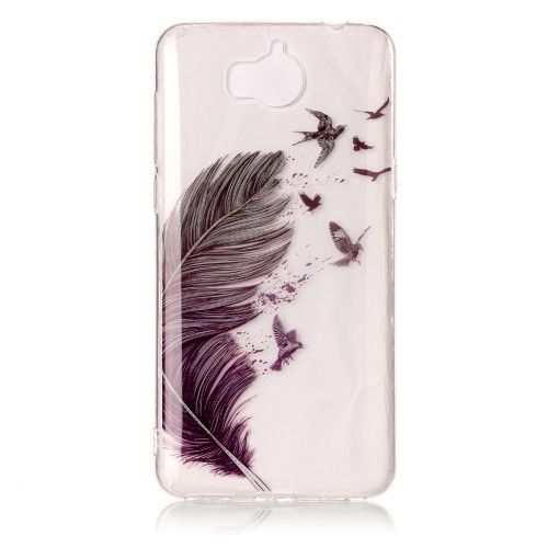 coque telephone huawei y6 2017 plume