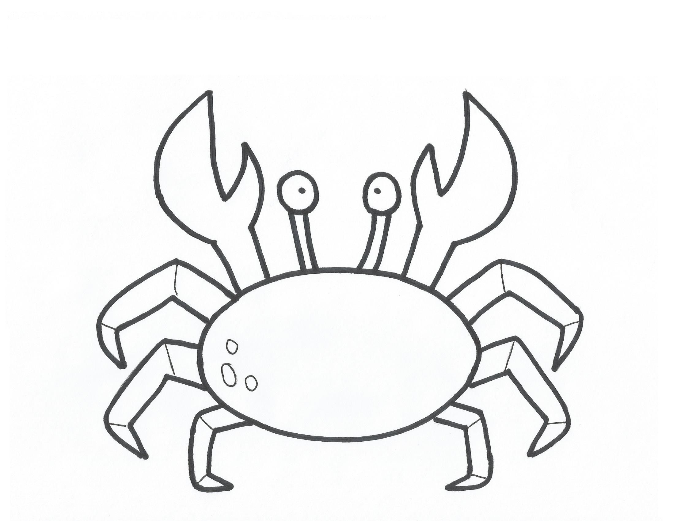 Printable Crab Template