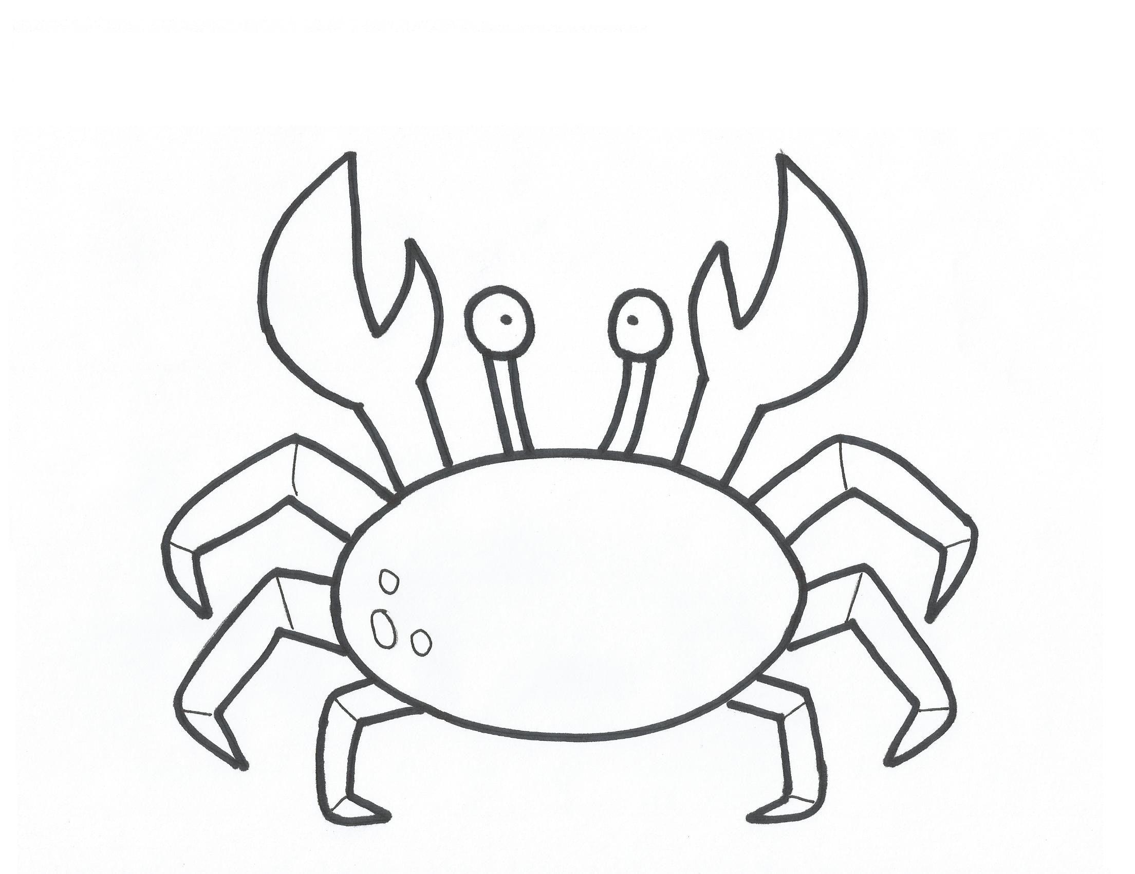 Crab Coloring Pages Printable Jpg 2209 1700 Mermaid Coloring