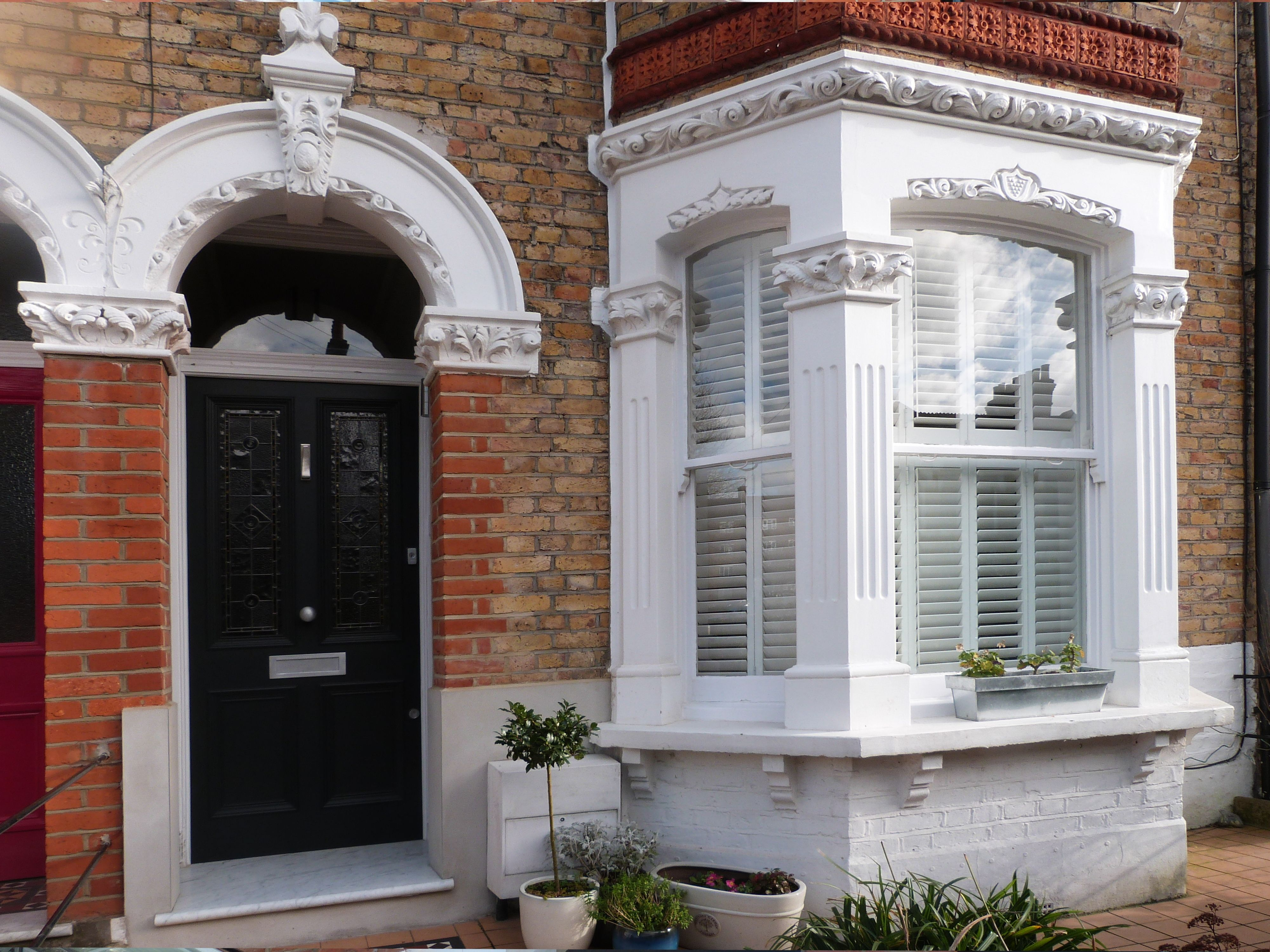 Amazing Victorian front door with black lead light fitted in south London & Amazing Victorian front door with black lead light fitted in south ... pezcame.com