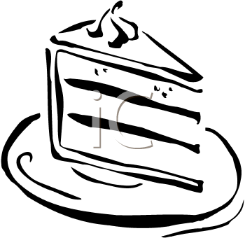 Dessert Piece Of Cake Clipart Black And White Download Free Mock Up