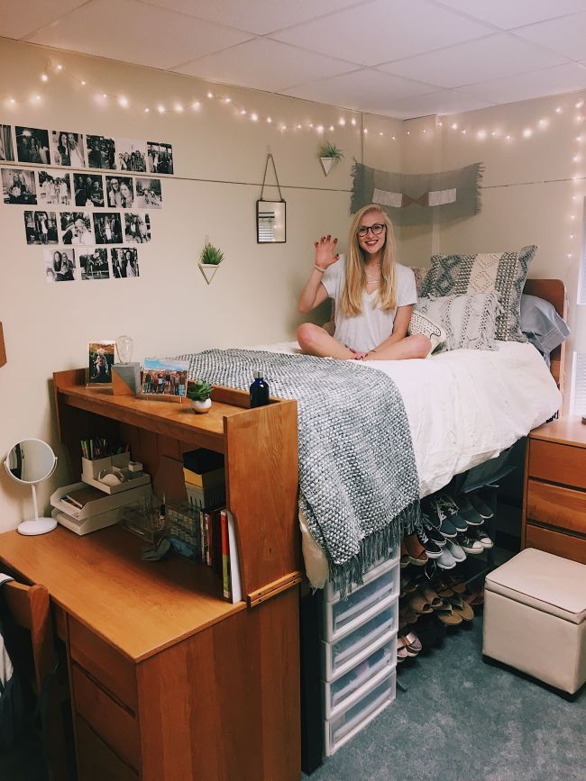 College Dorm For Girls College Ideas In 2018 Pinterest Dorm Dorm Room And College Dorm Rooms Beautiful Dorm Room Dorm Bedroom Girls Dorm Room