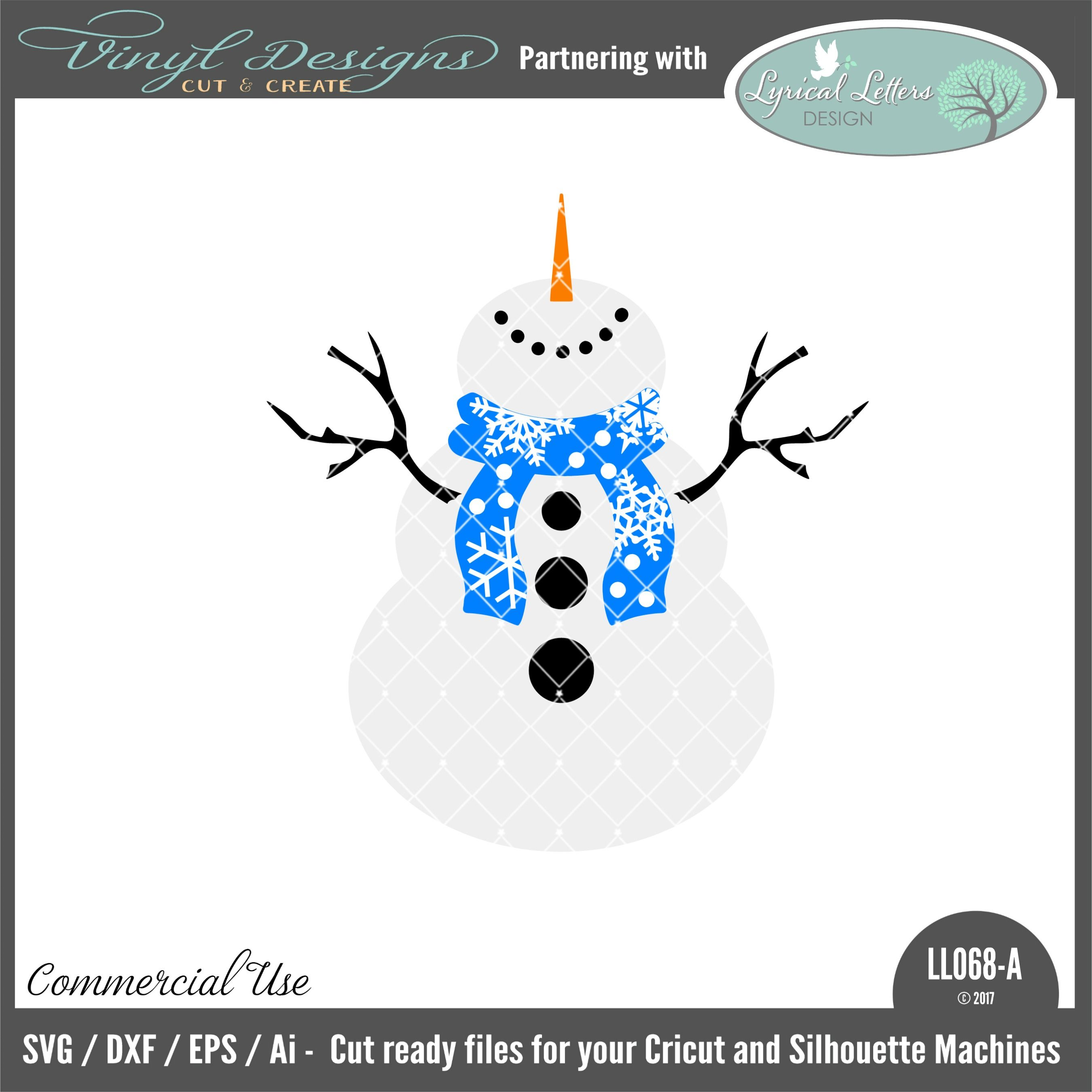 LL068A Snowman Art. Sold By Lyrical Letters DesignSmall