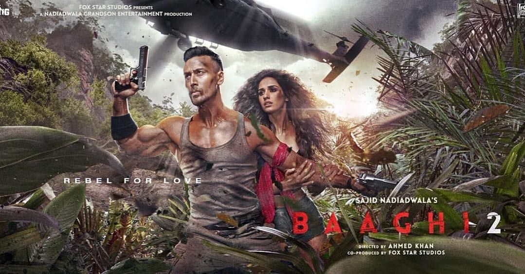 Repost Tigerjackieshroff With Get Repost Heres A Non Released Poster From Baaghi 2 Dishapatani Khan Ahmeda Tiger Shroff Disha Patani Action Movies