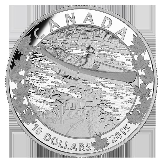 1 2 Oz Fine Silver Coin Canoe Across Canada Mirror Mirror 2015 Silver Coins Coins Silver Mirrors