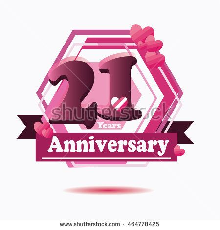 years anniversary purple hexagonal style logo with heart icon and ribbon st also rh pinterest