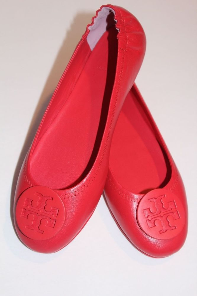 105a410fcf97 Tory Burch Women s Shoes Pink Minnie Vermillion Travel Ballet Flat US 7.5 M   ToryBurch  BalletFlats  Casual
