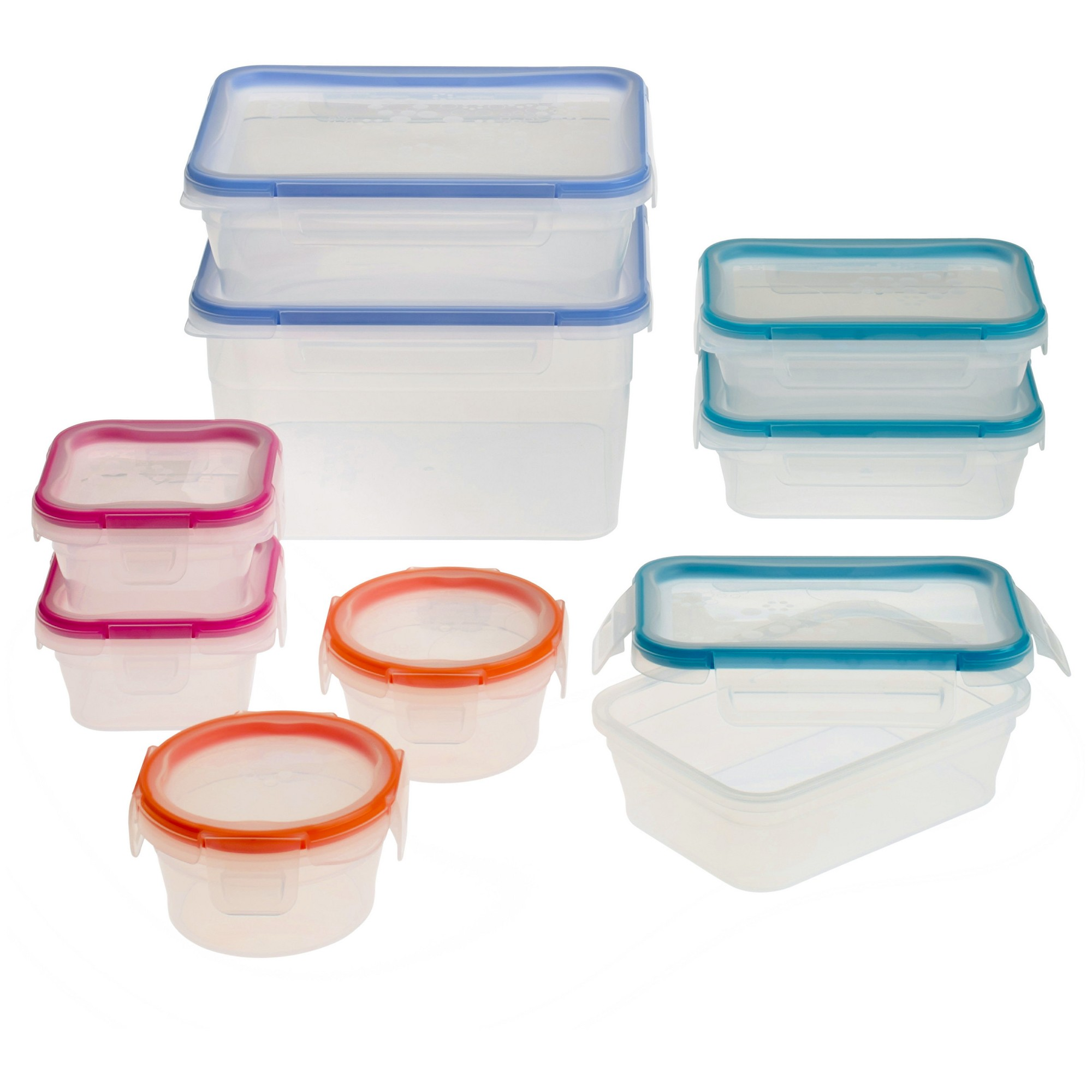 Snapware Total Solution Plastic 18pc Set Food Storage Containers Food Storage Glass Food Storage