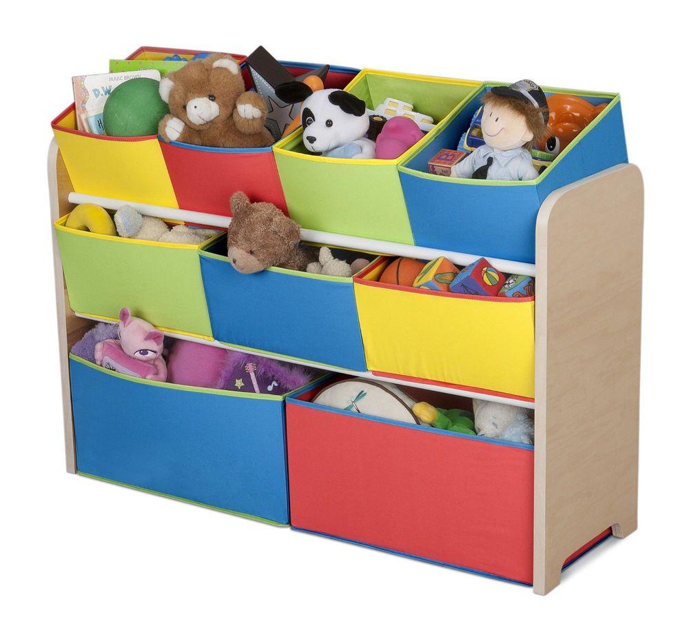 Kids Toy Organizer Storage Box Bedroom Chest Cabinet Bin Baskets Playroom Wood